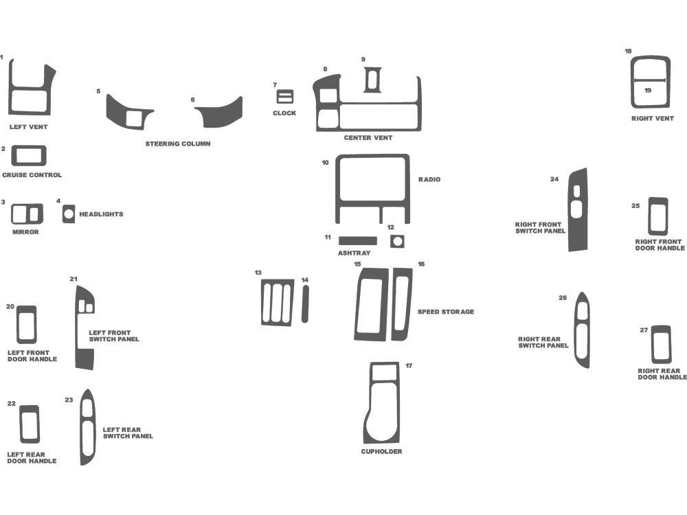 Isuzu Rodeo 1998-2002 Dash Kit Schematic