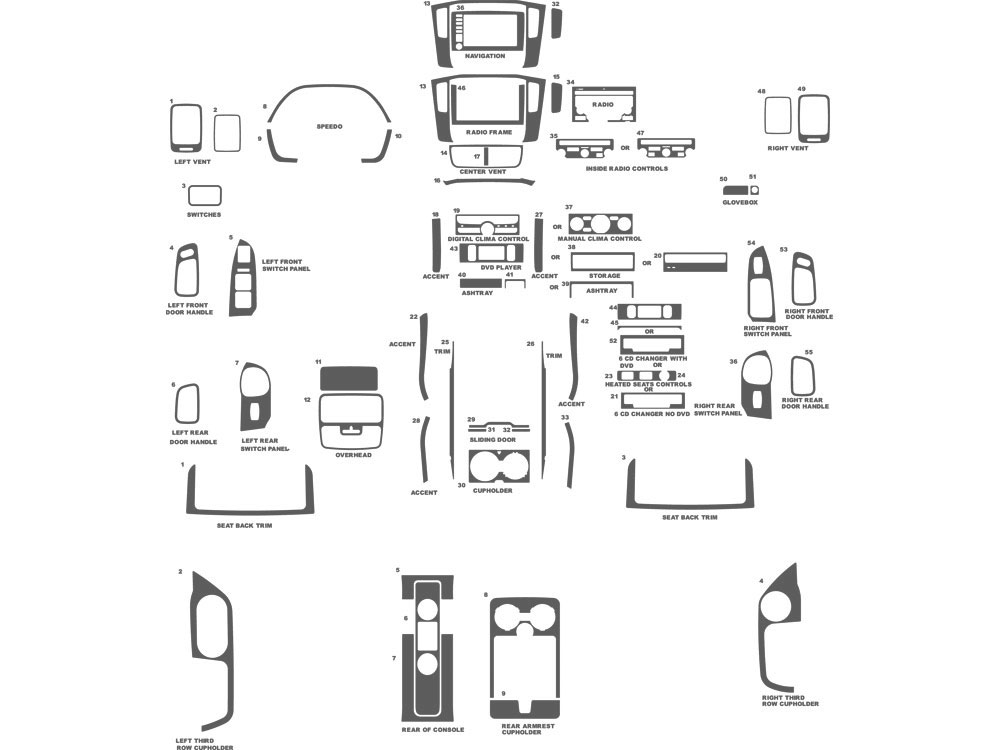 Honda Pilot 2006-2008 Dash Kit Schematic