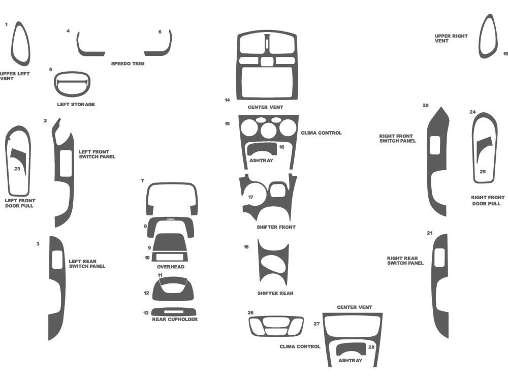 Hyundai Santa Fe 2002.5-2004 Dash Kit Schematic