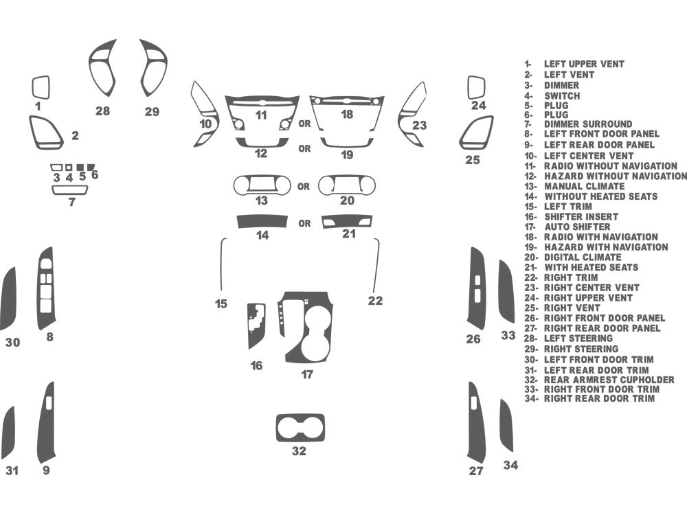 Hyundai Tucson 2010-2013 Dash Kit Schematic