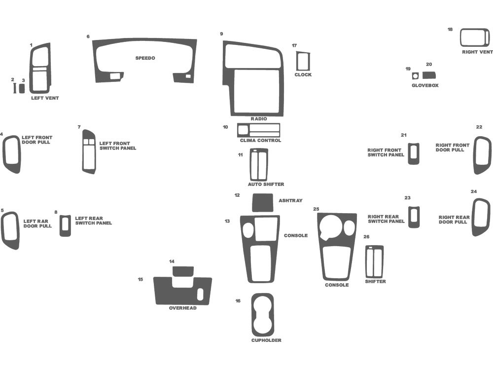 Infiniti G20 1999-2002 Dash Kit Schematic