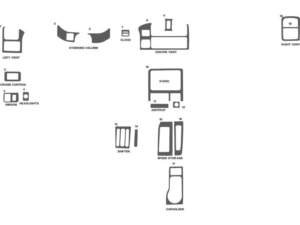 Isuzu Amigo 1998-2002 Dash Kit Schematic