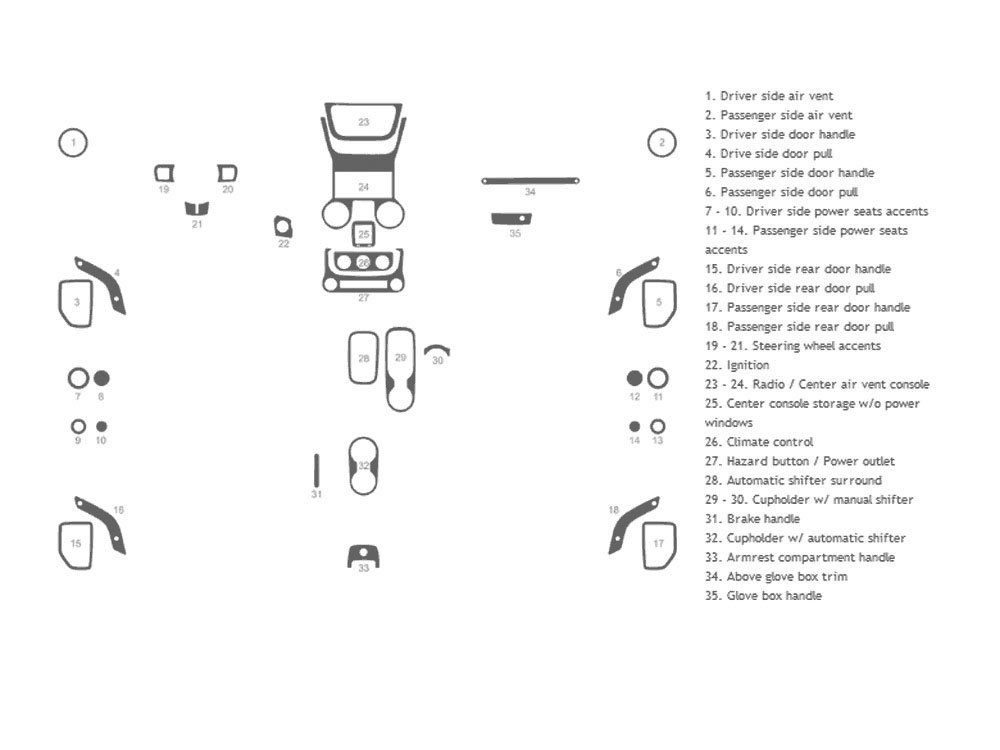 Jeep Wrangler 2011-2017 Dash Kit Schematic