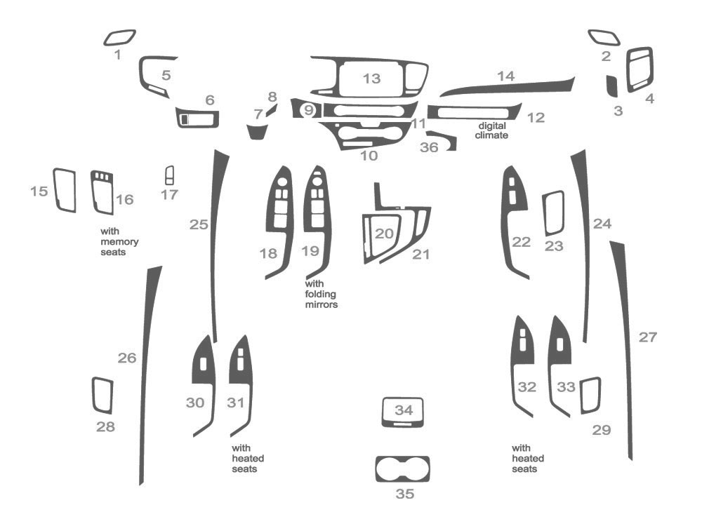 Kia Optima 2014-2015 Dash Kit Schematic