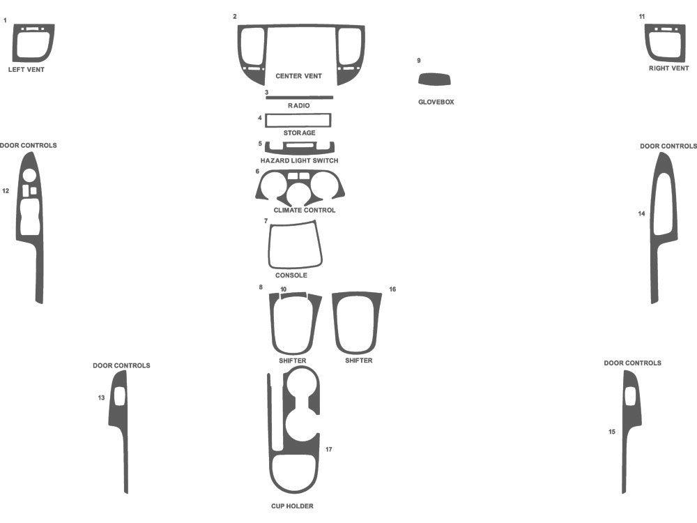 Kia Rio 2006-2011 Dash Kit Schematic