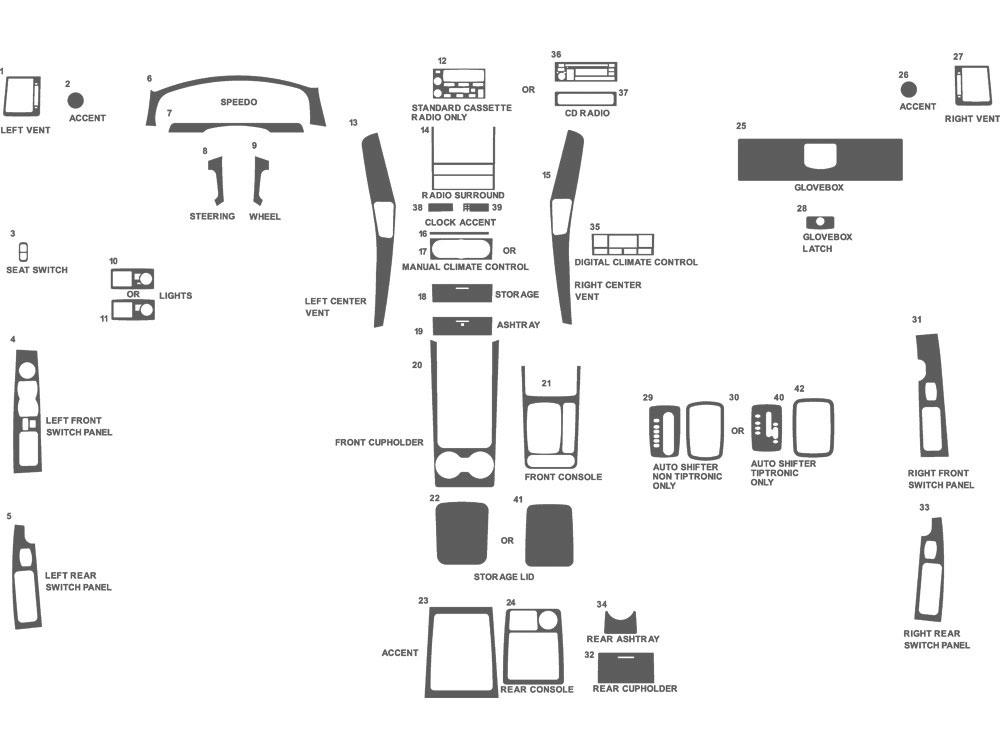 2006 Kia Sorento Dash Kits | Custom 2006 Kia Sorento Dash Kit