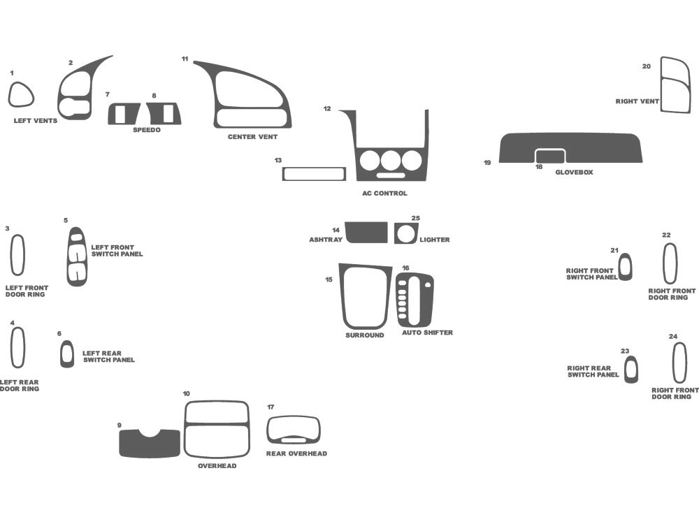 Kia Spectra 2002-2004 Dash Kit Schematic