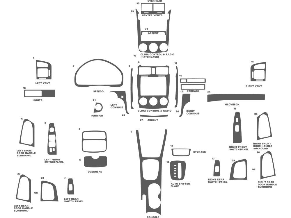 2006 Kia Spectra Dash Kits | Custom 2006 Kia Spectra Dash Kit