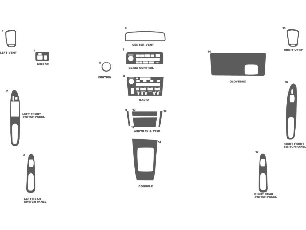 Lexus ES 1992-1993 Dash Kit Schematic