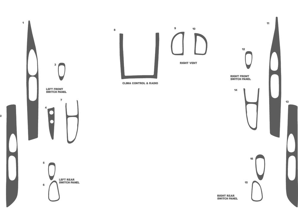 Lincoln Continental 1995-1997 Dash Kit Schematic