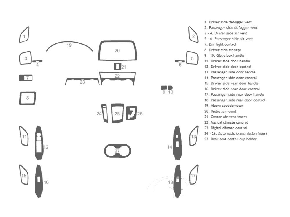 Mazda CX-5 2013-2015 Dash Kit Schematic