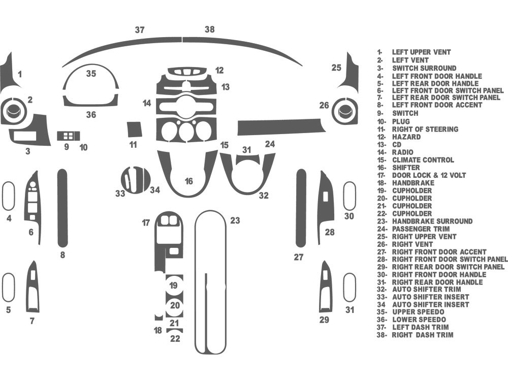 Mazda Mazda2 2011-2014 Dash Kit Schematic