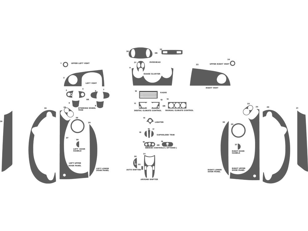 MINI Cooper 2007-2010 Dash Kit Schematic