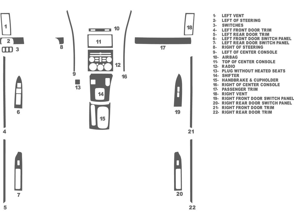 Mitsubishi Galant 2009-2012 Dash Kit Schematic