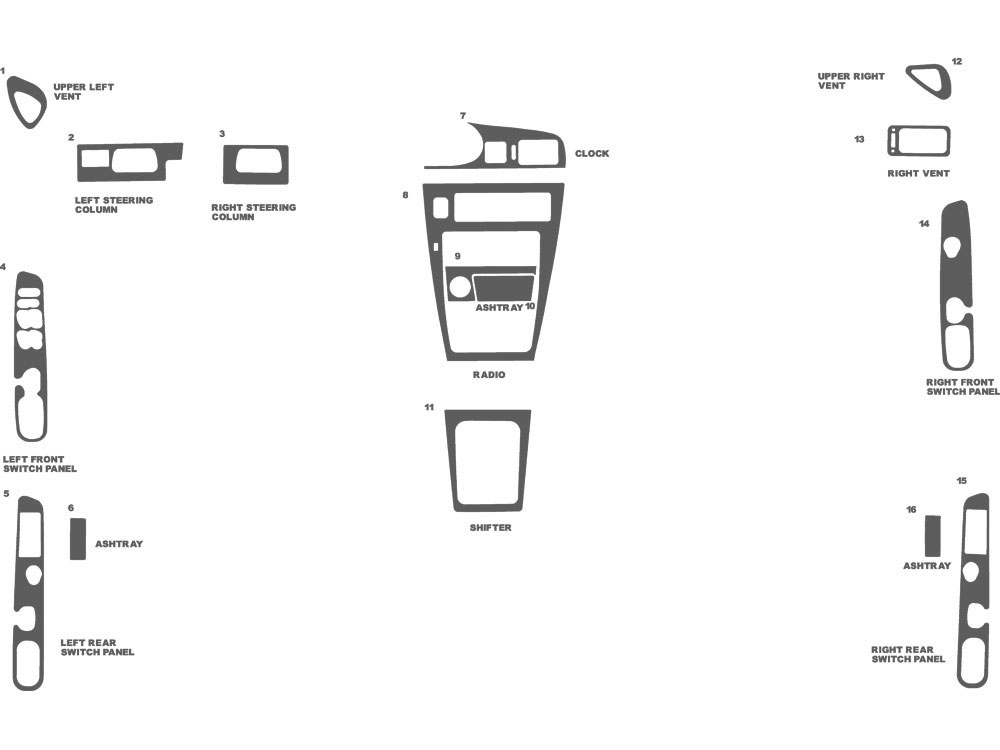 Nissan Maxima 1989-1991 Dash Kit Schematic