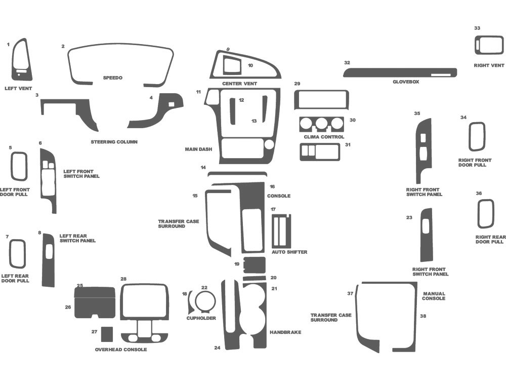 Nissan Pathfinder 2001-2002 Dash Kit Schematic