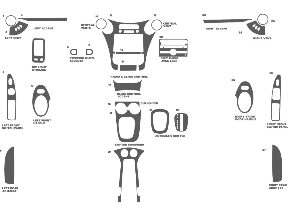 Saturn Ion Coupe 2006-2007 Dash Kit Schematic