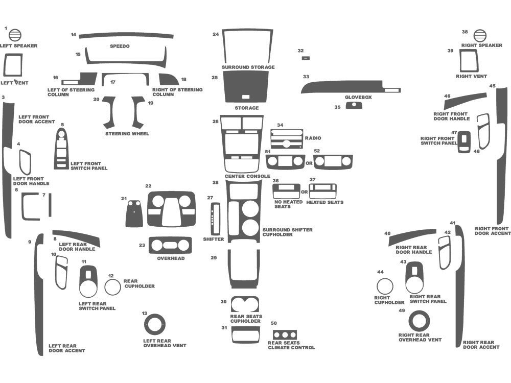 Saturn Outlook 2007-2009 Dash Kit Schematic