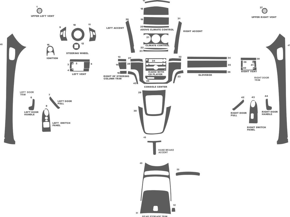 Saturn Sky 2007-2009 Dash Kit Schematic