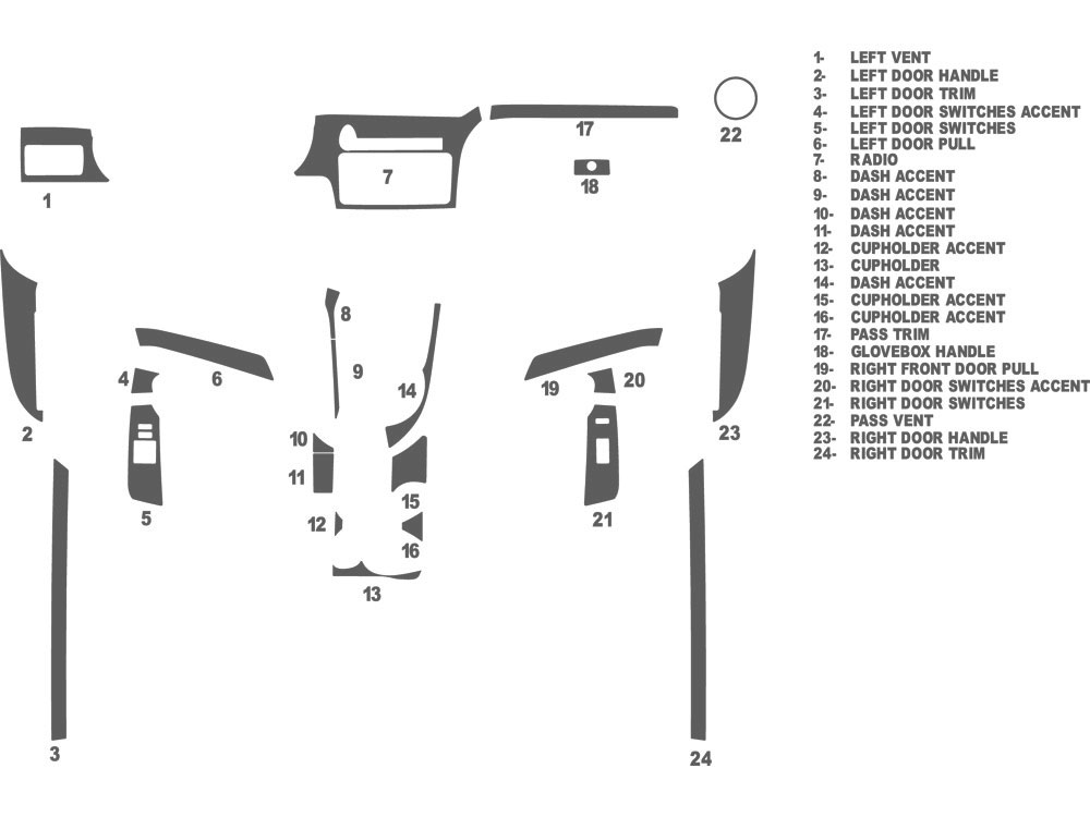 Scion tC 2011-2016 Dash Kit Schematic