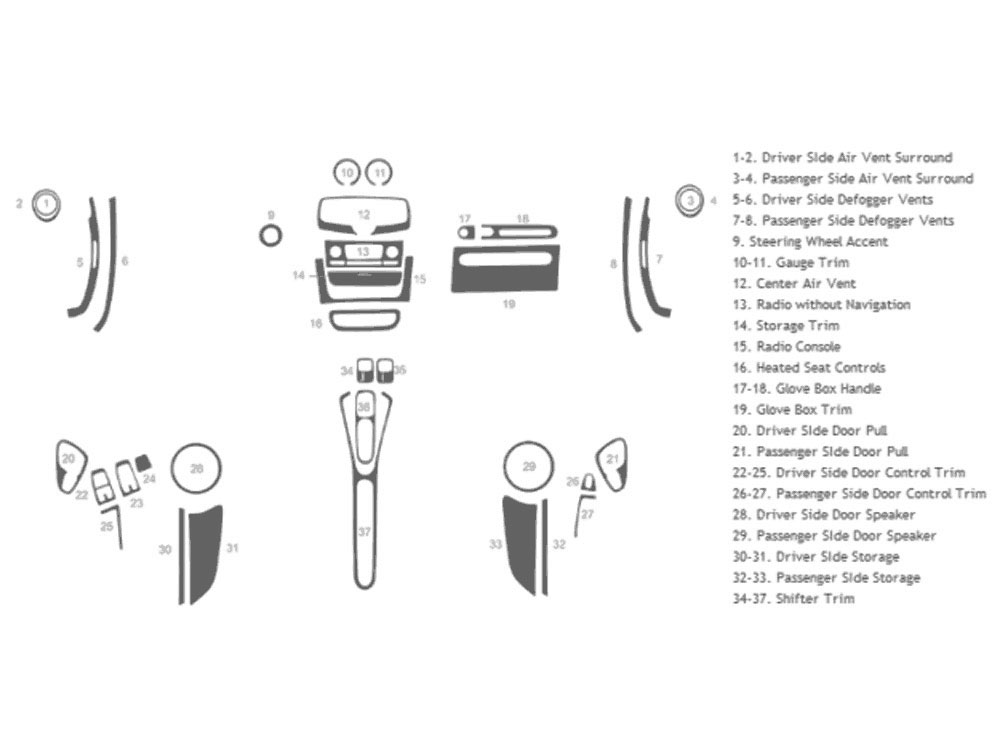 SMART ForTwo 2011-2015 Dash Kit Schematic