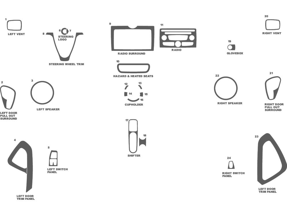 SMART ForTwo 2008-2010 Dash Kit Schematic