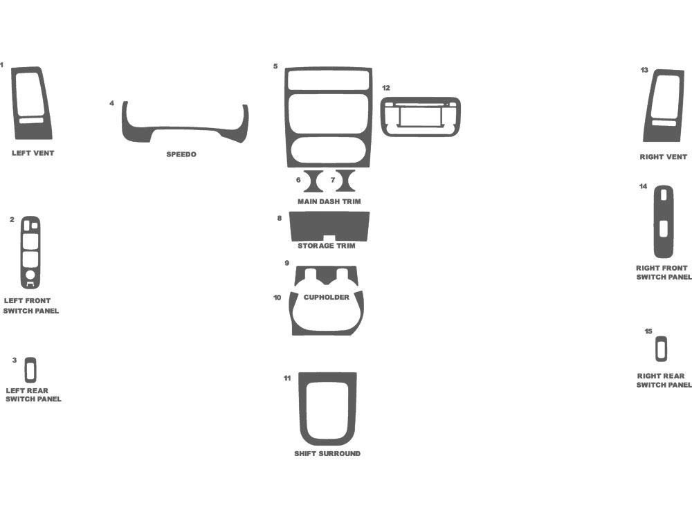 Suzuki Aerio 2005-2005 Dash Kit Schematic