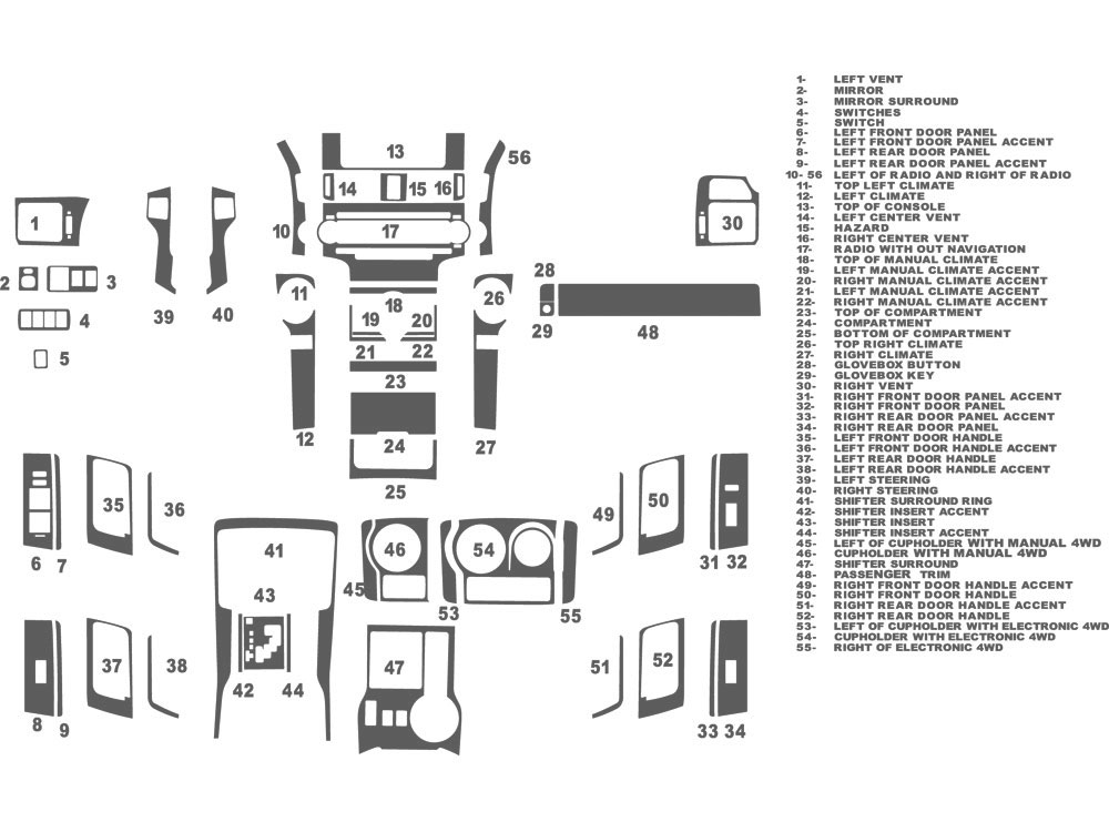 Toyota 4Runner 2010-2014 Dash Kit Schematic