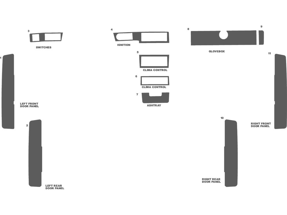 Volvo 940 1992-1995 Dash Kit Schematic