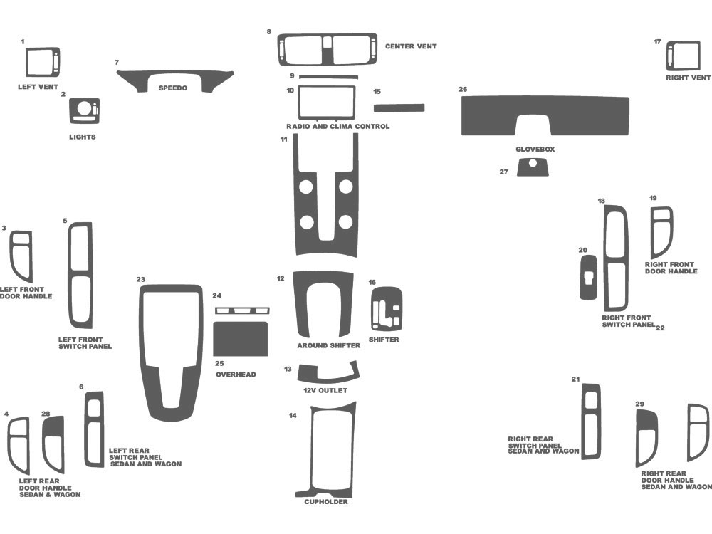 Volvo S40 2004-2007 Dash Kit Schematic