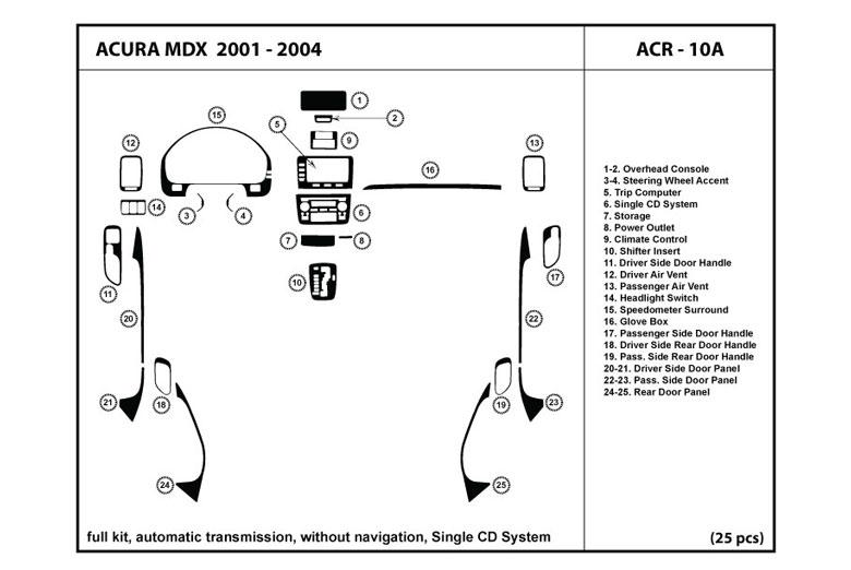 Dl Auto U2122 Acura Mdx 2001