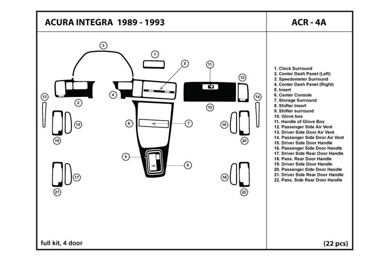2008 Volvo XC70 DL Auto Dash Kit Diagram