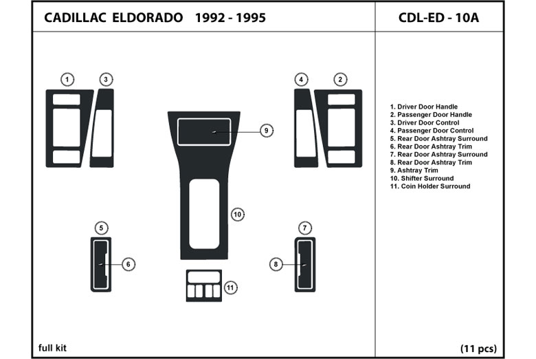 1994 Cadillac Eldorado DL Auto Dash Kit Diagram