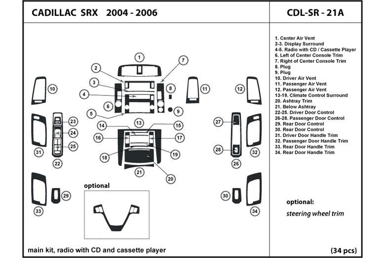 2006 Cadillac Srx Dash Kits