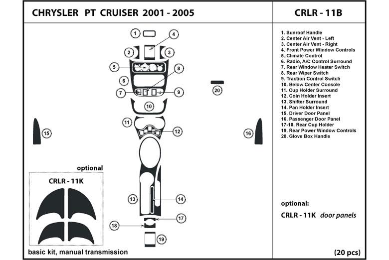 2004 Chrysler Pt Cruiser Dash Kits Custom 2004 Chrysler