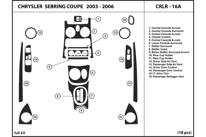 Dl Auto Chrysler Sebring 20032006 Dash Kits. 2003 Chrysler Sebring Dl Auto Dash Kit Diagram. Chrysler. Diagram 2003 Chrysler Sebring At Scoala.co