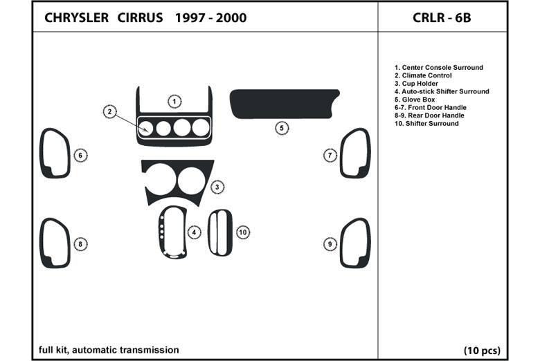 1997 Chrysler Cirrus DL Auto Dash Kit Diagram
