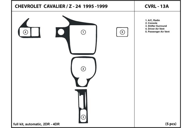 1998 Chevrolet Cavalier Dash Kits