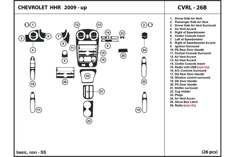 Dl Auto 174 Chevrolet Hhr 2009 2011 Dash Kits