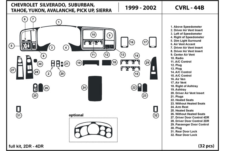 26 2001 Gmc Sierra Parts Diagram