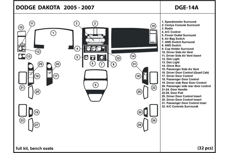2006    Dodge       Dakota    Dash Kits   Custom 2006    Dodge       Dakota