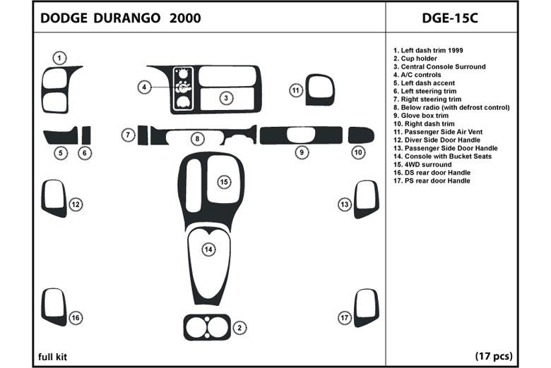 2000 dodge durango dash kits custom 2000 dodge durango. Black Bedroom Furniture Sets. Home Design Ideas