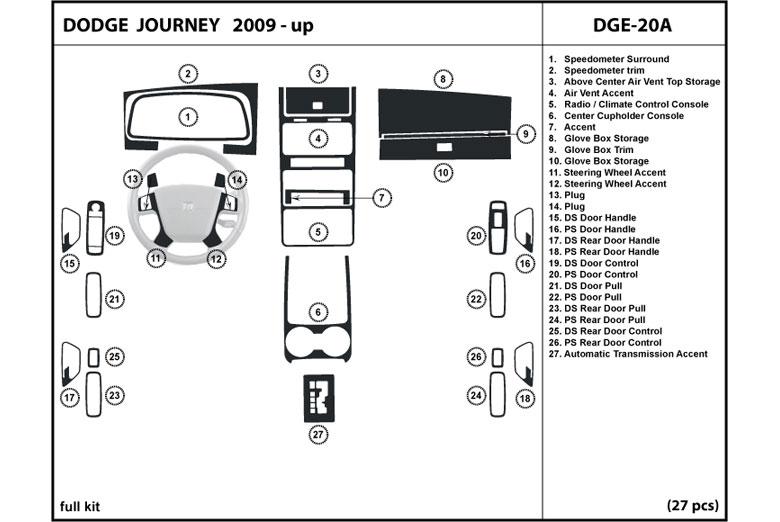 2010 Dodge Journey Dash Kits