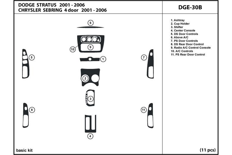 DL Auto      Dodge       Stratus    2001   2006    Dash Kits