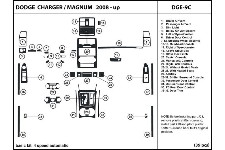 2008 Dodge Charger Dash Kits