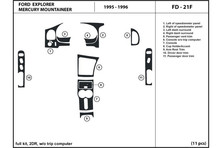 1995 ford explorer dash kits