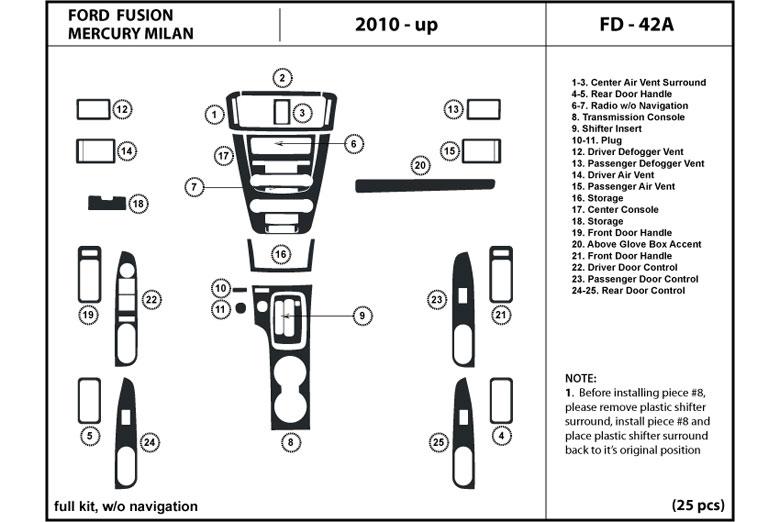 dl auto ford fusion 2010 2012 dash kits. Black Bedroom Furniture Sets. Home Design Ideas