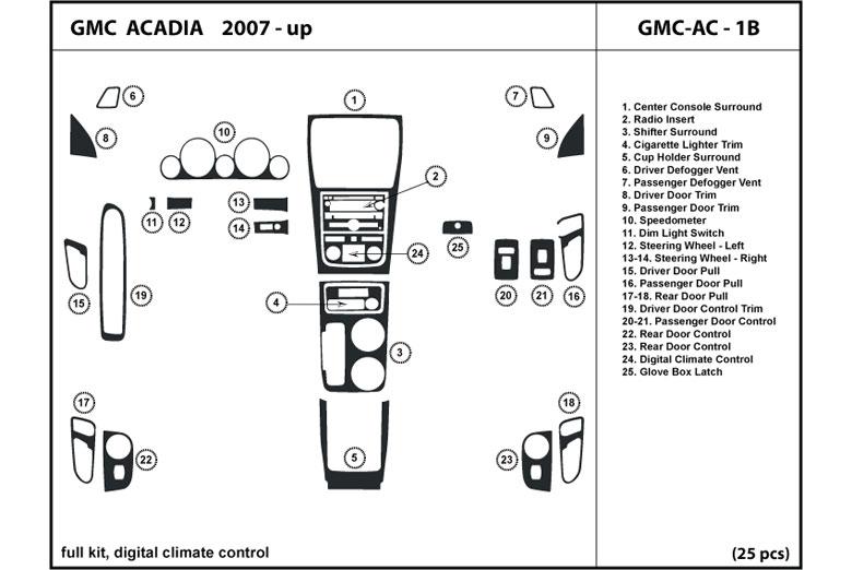 Dl auto gmc acadia 2007 2012 dash kits 2007 gmc acadia dl auto dash kit diagram publicscrutiny Image collections