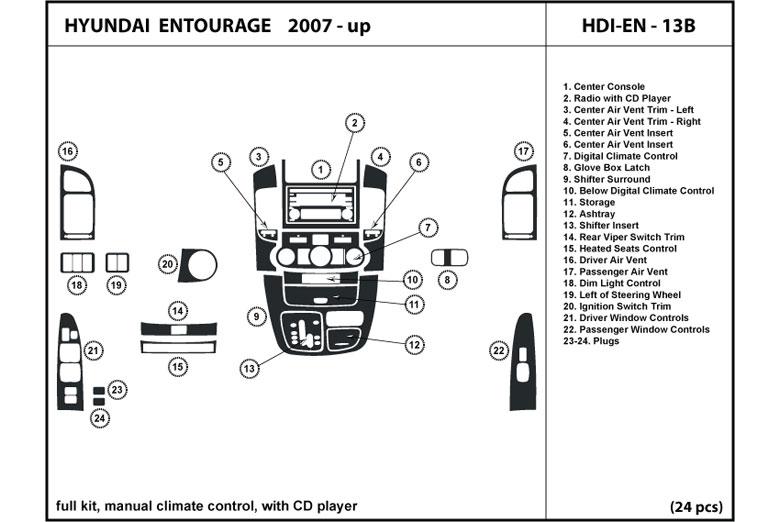 2007 Hyundai Entourage Dash Kits Custom 2007 Hyundai border=