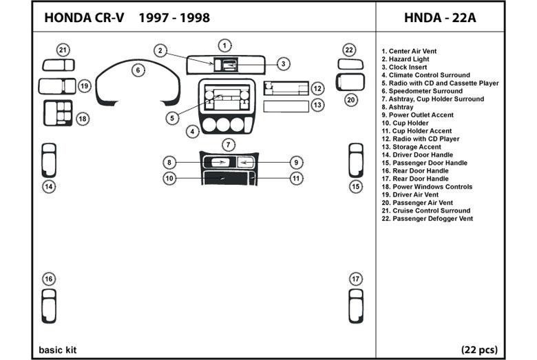 1998       Honda       CR      V    Dash Kits   Custom    1998       Honda       CR      V    Dash Kit